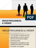Industriousness and Order