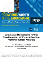 Session 9. LAYTON_Complaints Mechanism for Sex Discrimination at Work
