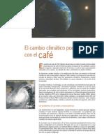 Cambio climático amenaza al café