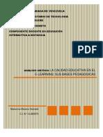 Analisis Critico Calidad Educativa en El E-learning