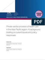 Private-sector provision of health care in the Asia-Pacific region