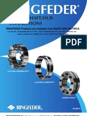 Ringfeder keyless shaft  hub locking device 40 RfN 7012