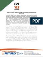 MARCOS FLORES Y MAIELLA GÓMEZ RECORREON COMUNIDADES DE ZACATLÁN 18-05-2013
