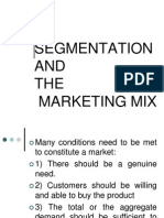 Segmentation and the Marketing Mix Fme 03