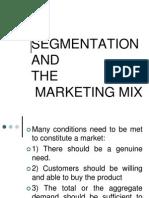 Segmentation and the Marketing Mix Fme 03