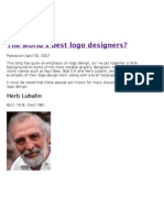 The world's best logo designers