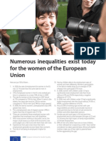 100 Inequalities for the Women of the EU
