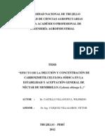 Efecto de La Dilucion y Concentracion de Carboximetilcelulosa Sodica en La Estabilidad y Aceptacion General de Nectar de Membrillo