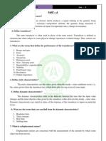 MECHATRONICS QUESTIONS Unit-II