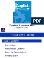 Advance PPT Notes to the Teacher