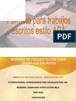Normas APA American Psychological Association en Formato Presentacion Con Adobe