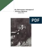 """Guilhem Monédiaire,  """"Le génie de clairvoyance intemporel d'Octave Mirbeau (1848-1917)"""""""