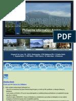 Dispatch for June 26 , 2013 Wednesday, 2 PIA Calabarzon PRs , 8Weather Watch, 7Regional Watch , 2OFW Watch , 1 PNOY Speech, 15 Online News , 9 Photonews
