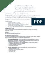 Entrepreneurship Chapter 1 - Entrepreneurship and the Entrepreneurial Mind-Set
