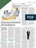 Artikel Cobouw 3Dprinten Beinvloedt Het Maakproces 25062013