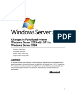Changes in Functionality From Windows Server 2003 With SP1 to Windows Server 2008 Part 2