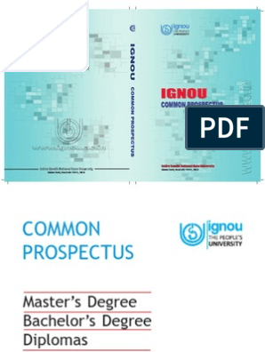 IGNOU Prospectus 2013-14 | Distance Education | University