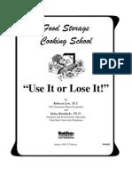 Food Storage Cooking School