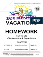 DPP#25 to 31 Electrostatics 7 Capacitance 15.06.2013 HOMEWORK