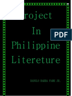 Project in Philippine Literature