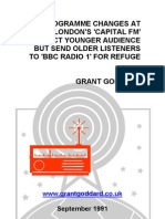 "'Programme Changes At London's ""Capital FM"" Attract Younger Audience But Send Older Listeners To ""BBC Radio 1"" For Refuge' by Grant Goddard"