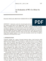 Fracture Toughness Evaluation of WC-Co Alloys by Indentation Testing