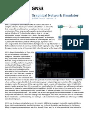 GNS3-0 5-tutorial pdf | Network Switch | Ip Address