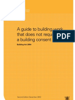 Dbh Guide for Building Work Consent Not Required