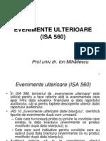 Evenimente Ulterioare (Isa 560) - i. Mihailescu