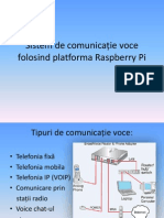 Sistem de comunicație voce folosind platforma Raspberry Pi