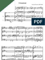 Puccini Crisantemi Strings Full Score