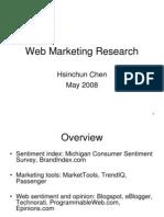 23 Web Marketing Research May2008