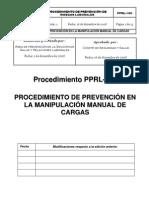 PPRL-100 Proced. Manipulación manual cargas
