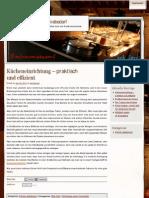 Kücheneinrichtung – praktisch und effizient