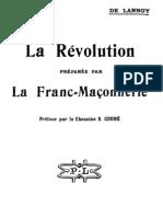 La Révolution preparee par la Franc-Maconnerie