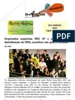 Deputados arquivam PEC 37 e aprovam nova distribuição do FPE; royalties vão para o Senado