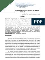T005 - PRESSUPOSTOS TEÓRICOS ACERCA DA LEITURA NO ÂMBITO ESC