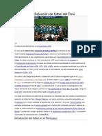 Historia de la Selección de fútbol del Perú