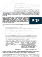 Propuesta pedagógica y didáctica en torno a la oralidad y la escritura