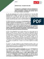 manifiesto 1 mayo 2009