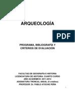 Arqueologia.programa y Bibliografia.2011-2012