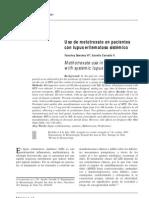 Uso de metotrexato en pacientes con lupus eritematoso sistémico