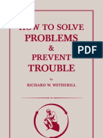 73000881 How to Solve Problems and Prevent Trouble