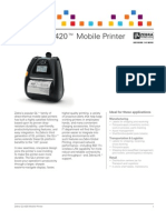 Zebra QLn420 Series Mobile Printer Brochure