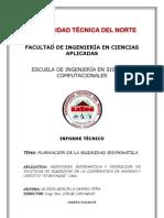 PLANEACIÓN DE LA SEGURIDAD INFORMÁTICA