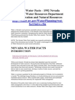 NV Water Facts