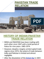 History of Indian-pakistan Trade Relation ppt