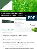 Using Storage Class Memory