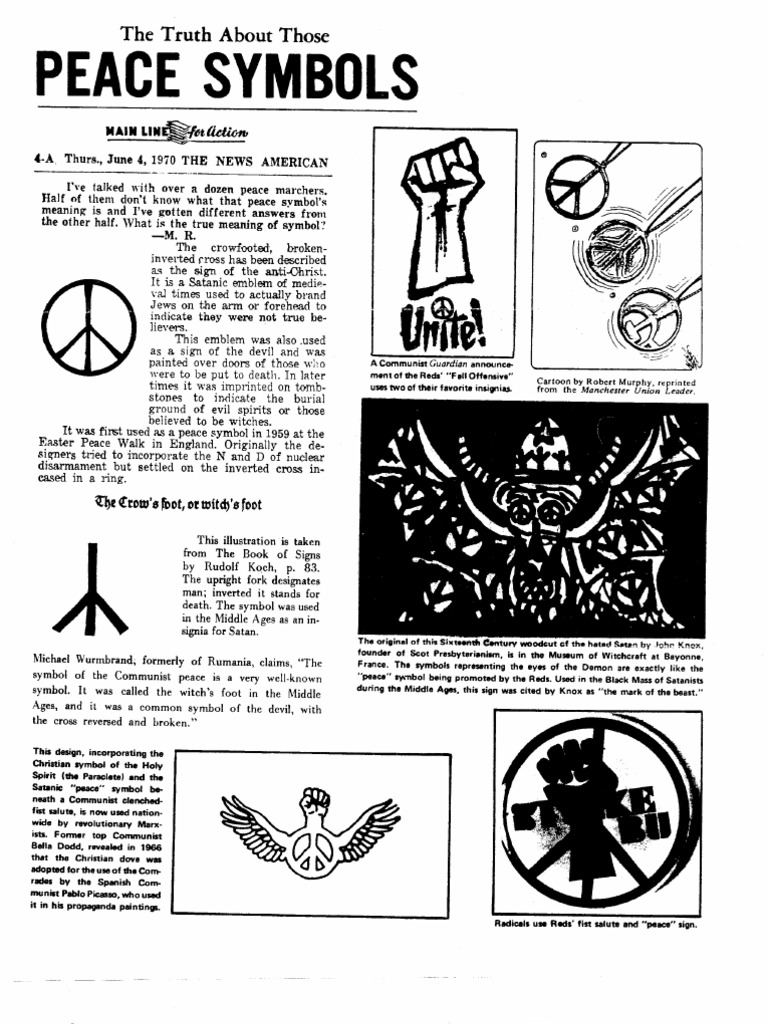 The truth about those peace symbols religion and belief buycottarizona