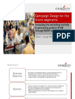 Campaign Design Using Micro Segment for Retail